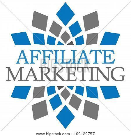 Affiliate Marketing Blue Grey Squares Elements