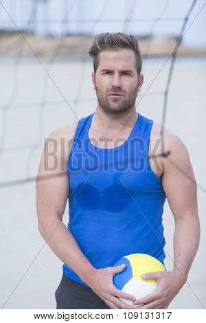 Beach Volley Player Portrait.