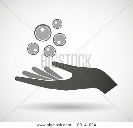 Isolated Vector Hand Giving Oocytes
