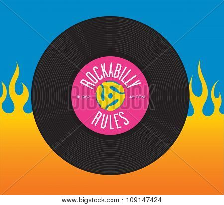 Rockabilly Rules Record Design