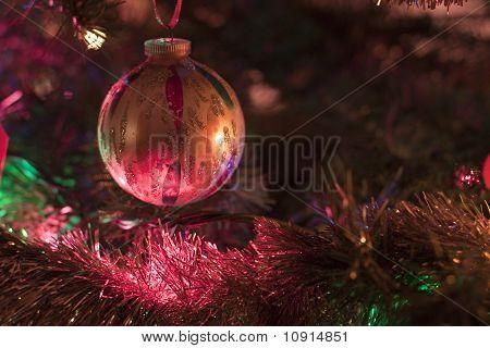 Christmas tree close up.