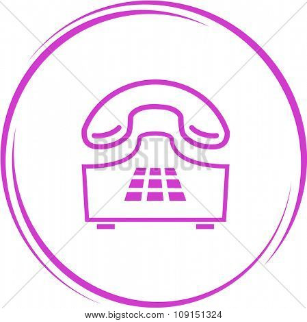 push-button telephone. Internet button. Raster icon.