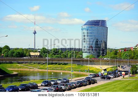 VILNIUS LITHUANIA - MAY 12: Barclays bank office in Vilnius city on May 12 2015 Vilnius Lithuania.