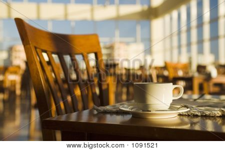 Morning Positive Still-Life In A Cafe