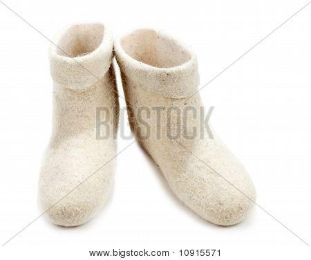 Pair Light Woolly Lock Footwear