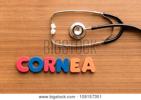 Cornea Colorful Word