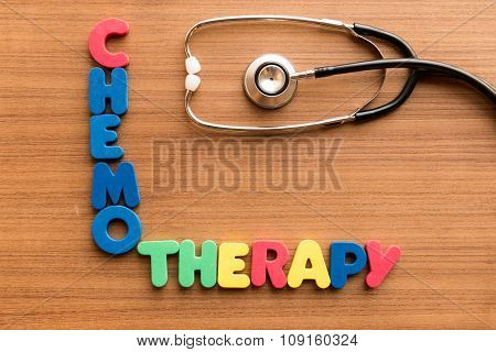Chemotherapy Colorful Word