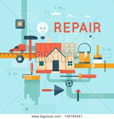 Home repair, home construction.