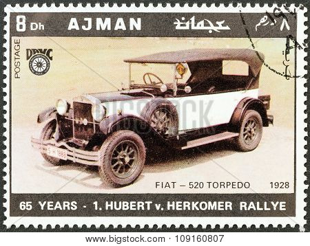 AJMAN EMIRATE - CIRCA 1970: A stamp printed in United Arab Emirates from the