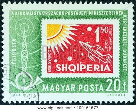 HUNGARY - CIRCA 1963: A stamp printed in Hungary from the