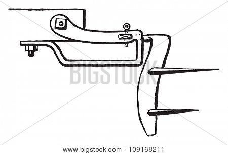 Plan a subsoiler blade, vintage engraved illustration. Industrial encyclopedia E.-O. Lami - 1875.