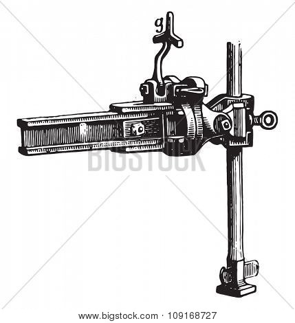 Side view of the stem of the front end of Eckert and its relationship with age, vintage engraved illustration. Industrial encyclopedia E.-O. Lami - 1875.  poster