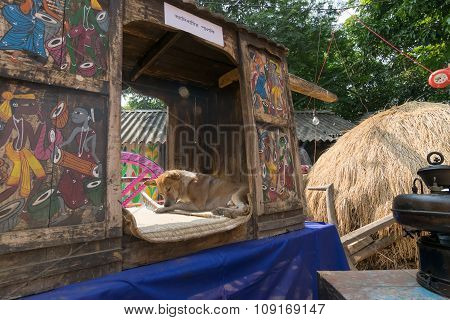 Handicrafts Are Perpared For Sale At Pingla Village, India