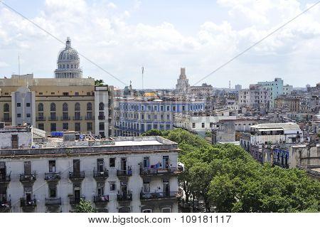 Old Havana Architecture In Cuba.