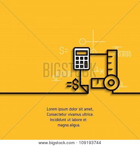 Vector banner  estimate outlay calculation