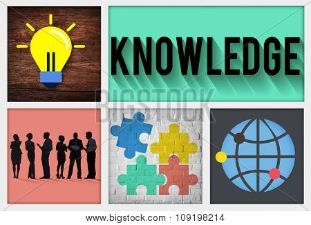 Knowledge Intelligence Genius Expertise Education Concept poster