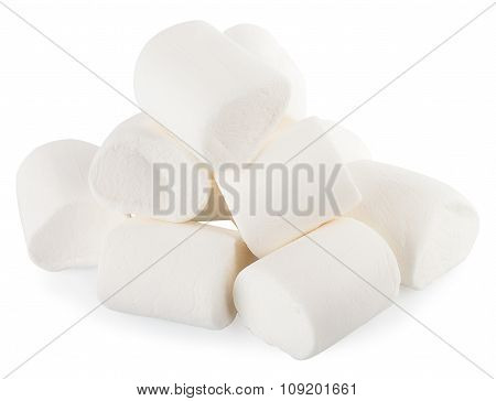 White Marshmallows Candy Isolate