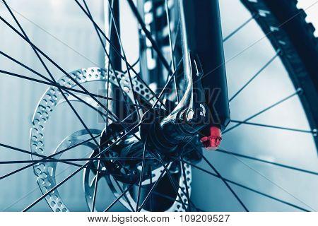 details bike front wheel axle disc brake damper shpryhy