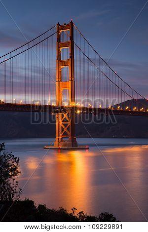 Golden-Gate Bridge at Dusk, San Francisco, California