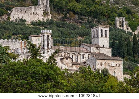 Panoramic View Of Gubbio, Italy
