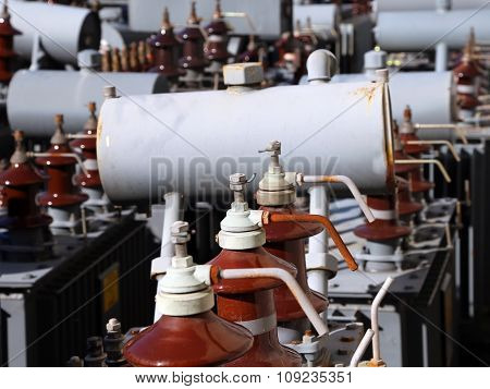 many transformers of electricity used in the storage hydropower plant