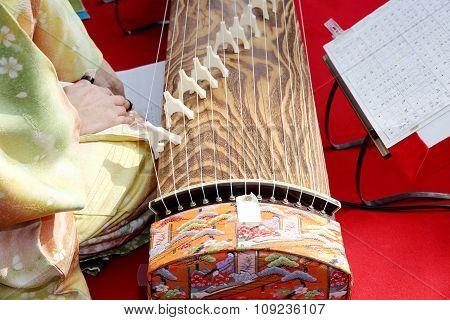 Japanese traditional koto (Japanese traditional instrument)