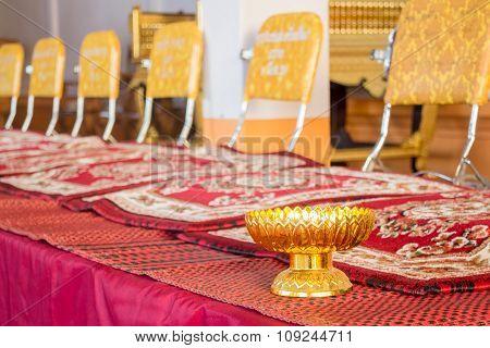 Monk 's Seats In Thai Temple