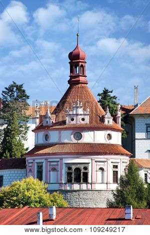 Castle And Town Jindrichuv Hradec, Bohemia, Czech Republic