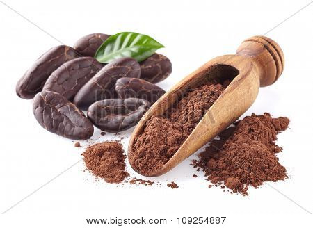Cacao powder with beans