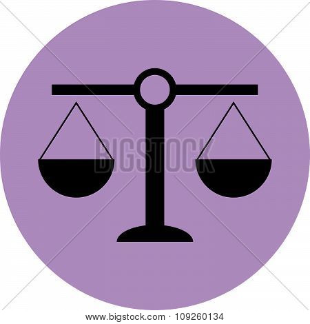 Scale icon balance