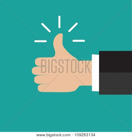 Thump up vector sign