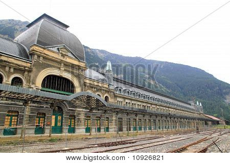 Canfranc Train Station Old Monument Spain