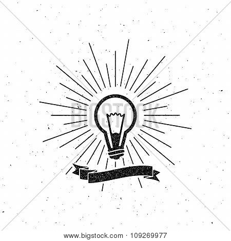 Light Bulb Label Vector Photo Free Trial