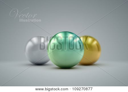 3D metallic spheres