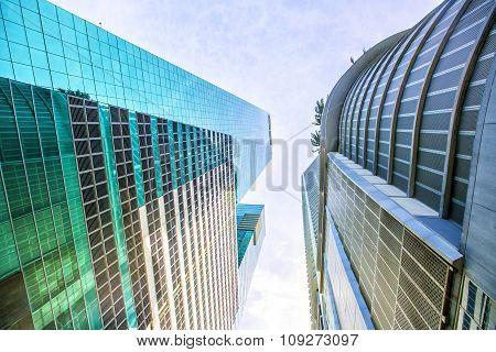 Skyscrapers In The Brickell Key Area In Downtown Miami.