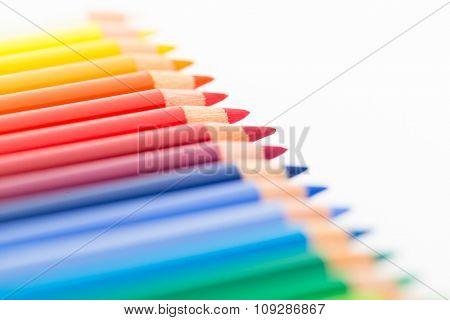 Colour pencil close up