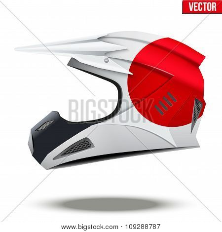 Japan Flag on Motorcycle Helmets
