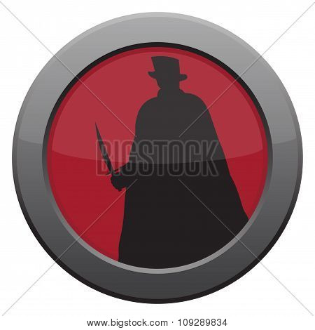 Jack The Ripper With Knife Icon