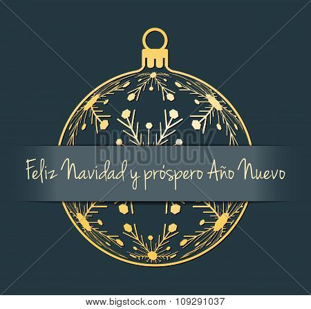 Spanish Christmas and New Year background