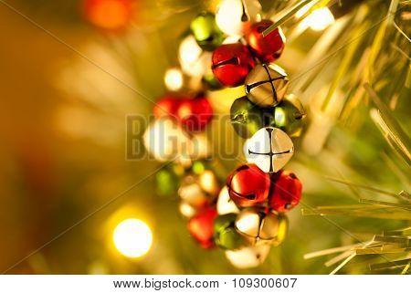 Jingle Bell Wreath Christmas Tree Decoration side view