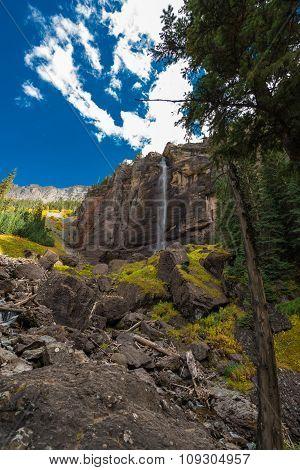 Bridal Veil Falls Telluride Colorado Usa