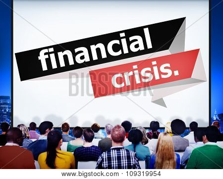 Financial Crisis Setback Downfall Monetary Disaster Economic Debt Inflation Concept