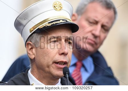 FDNY assistant chief at press conference