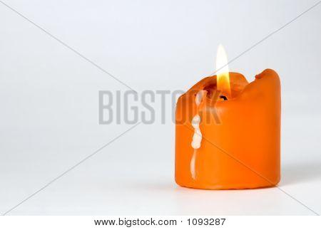 Orange Burning Candle
