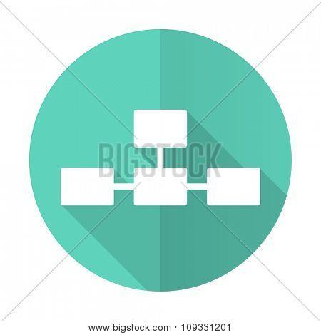 database blue web flat design circle icon on white background