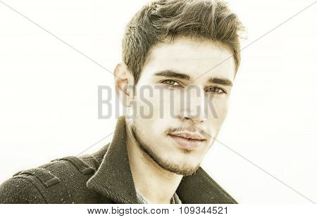 Attractive young man's headshot outdoor