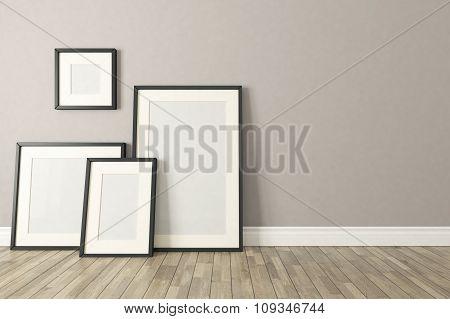 Black Picture Clear Frames Decor, Background, Template Design
