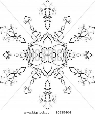 Flower snowflake is shown in the picture. poster