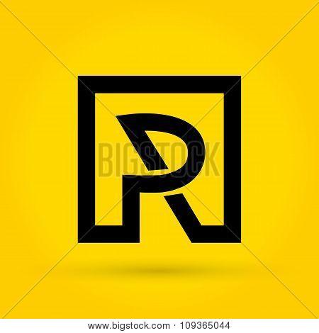 P R Letter Logo vector
