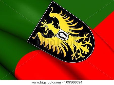 Flag Of Isny Im Allgau, Germany.